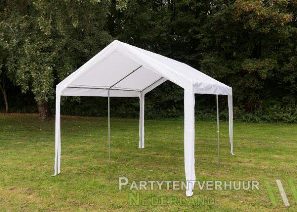 Partytent 3x4 meter schuin voorkant huren - Partytentverhuur Roosendaal