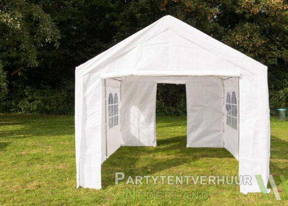 Partytent 3x4 meter voorkant met deur huren - Partytentverhuur Roosendaal
