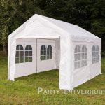 Partytent 3x4 meter zijkant huren - Partytentverhuur Roosendaal