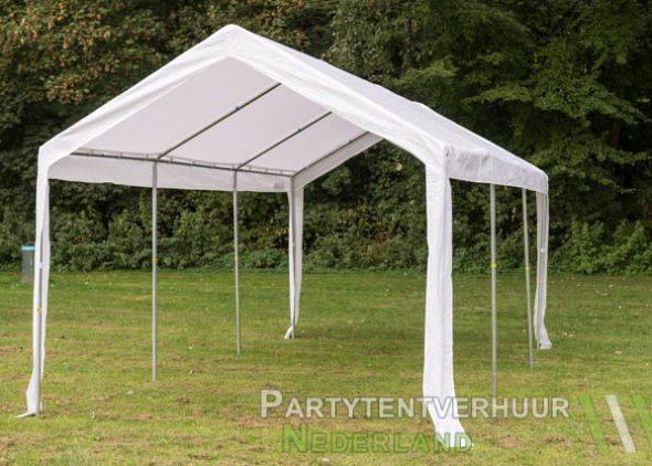Partytent 3x6 meter schuin voorkant huren - Partytentverhuur Roosendaal