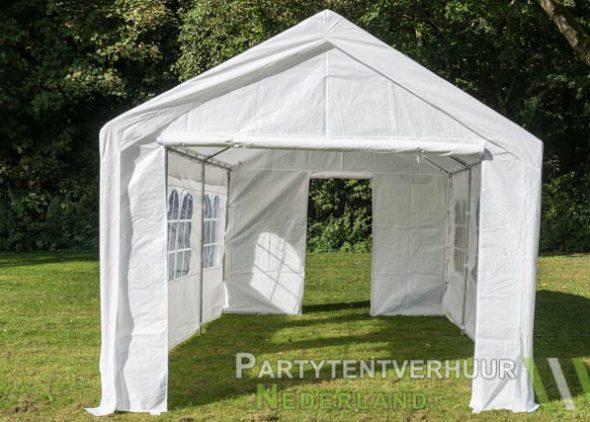 Partytent 3x6 meter voorkant met deur huren - Partytentverhuur Roosendaal
