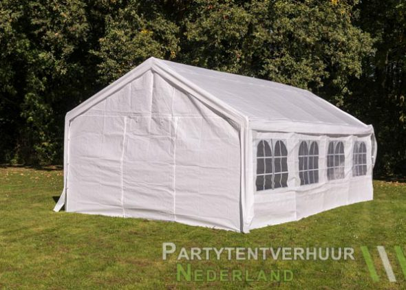 Partytent 4x8 meter achterkant huren - Partytentverhuur Roosendaal