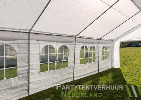 Partytent 4x8 meter binnenkant schuin huren - Partytentverhuur Roosendaal