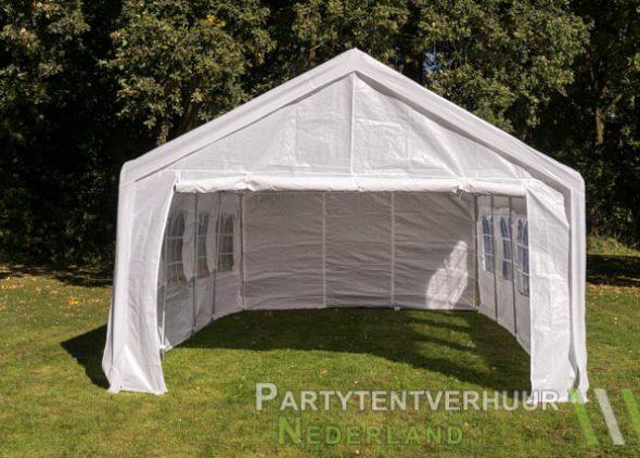 Partytent 4x8 meter voorkant huren - Partytentverhuur Roosendaal