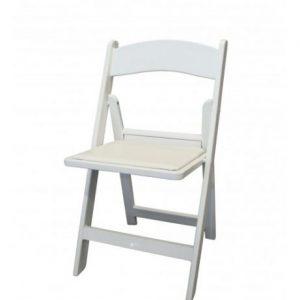 Witte stoel voor bruiloften