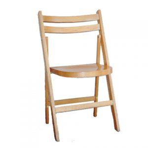 Volledig houten stevige klapstoel