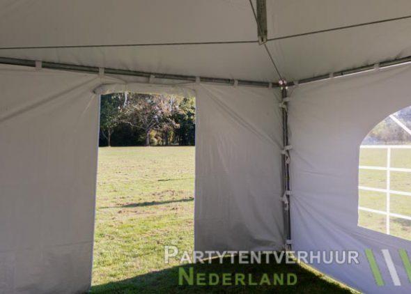 Pagodetent 4x4 meter binnenkant met deur huren - Partytentverhuur Roosendaal