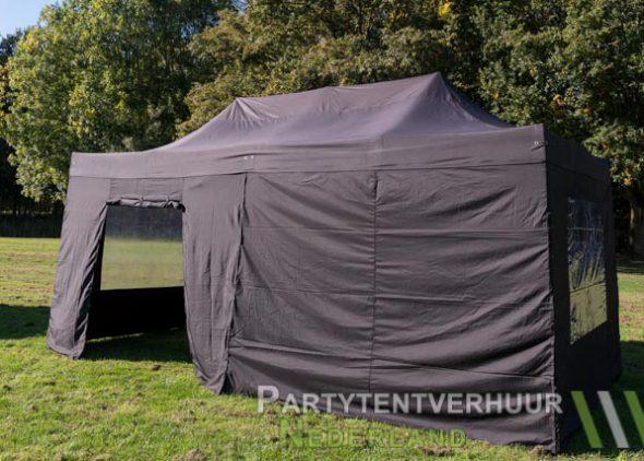 Easy up tent 3x6 meter zijkant met deur huren - Partytentverhuur Roosendaal