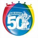 Ballonnen Abraham voor man of vader die 50 jarige verjaardag viert