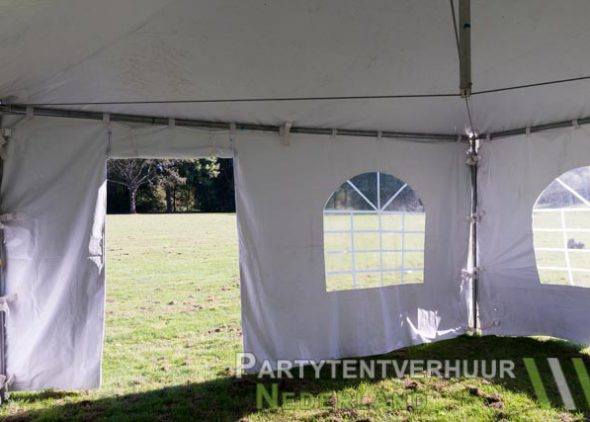 Pagodetent 5x5 meter binnenkant met deur huren - Partytentverhuur Roosendaal