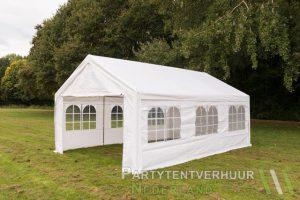 Partytent 4x6 meter zijkant huren - Partytentverhuur Roosendaal