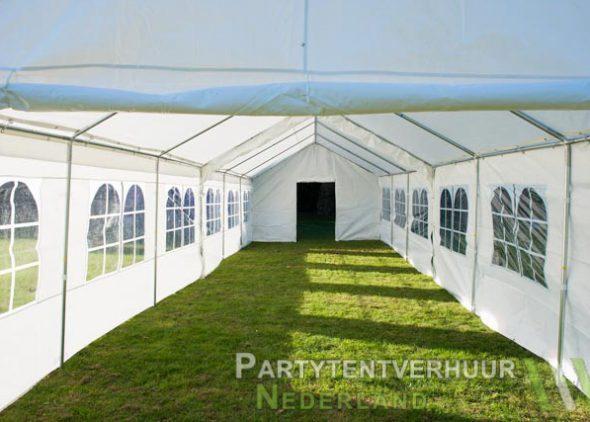 Partytent 6x12 meter binnenkant met deur huren - Partytentverhuur Roosendaal