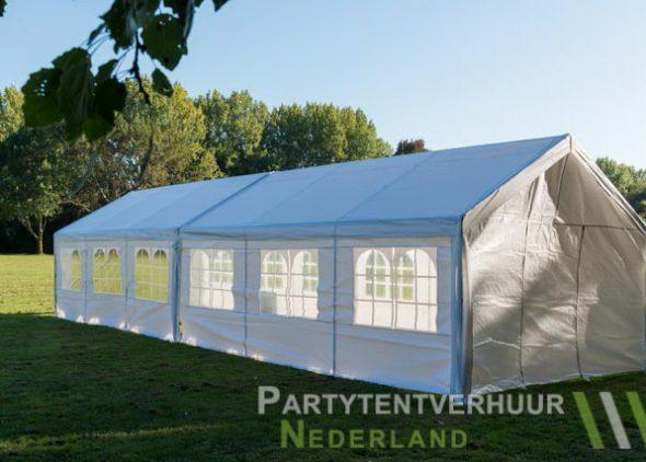Partytent 6x12 meter zijkant links huren - Partytentverhuur Roosendaal