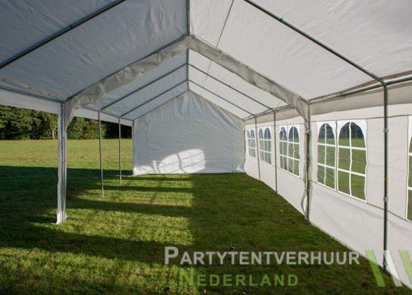 Partytent 6x12 meter zijkant links open huren - Partytentverhuur Roosendaal