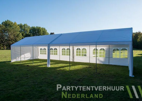 Partytent 6x12 meter zijkant open huren - Partytentverhuur Roosendaal