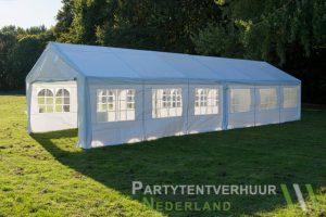 Partytent 6x12 meter zijkant rechts huren - Partytentverhuur Roosendaal