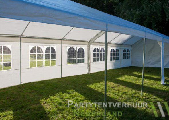 Partytent 6x12 meter zijkant rechts open huren - Partytentverhuur Roosendaal