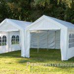 Partytent 6x6 meter voorkant huren - Partytentverhuur Roosendaal