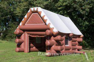 Skihut voorkant schuin huren - Partytentverhuur Roosendaal