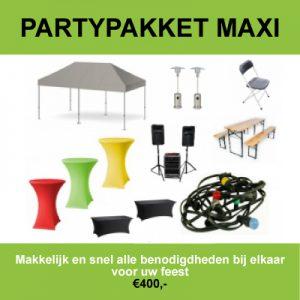 Maxi partypakket huren in Roosendaal