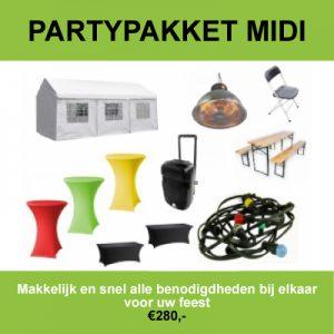 Huur het partypakket midi in Roosendaal