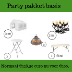 Party pakket basis huren in Roosendaal