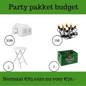 Party pakket budget huren in Roosendaal