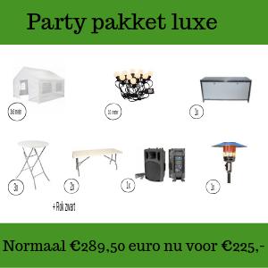 Party pakket luxe huren