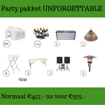 Party pakket unforgettable huren in Roosendaal